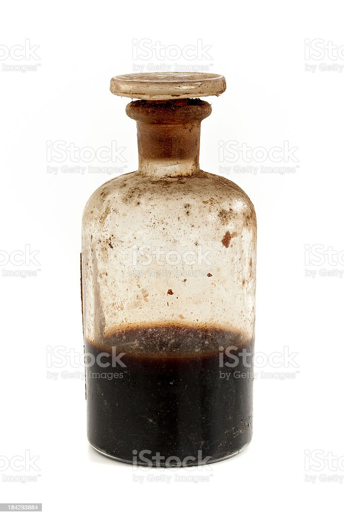 old bottle with poison royalty-free stock photo