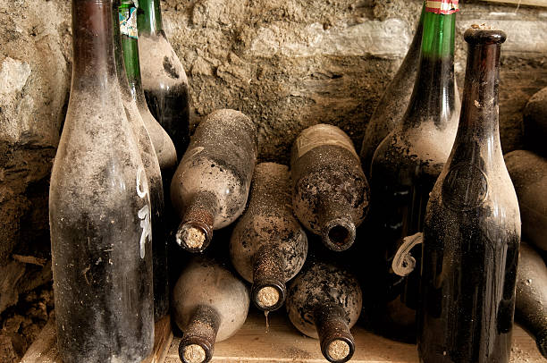 Old bottles stock photo