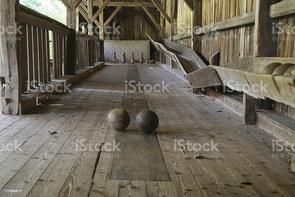 Old Bowling Lane stock photo