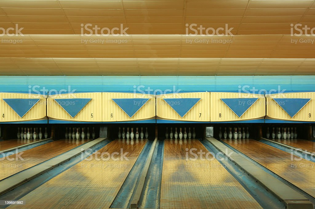 Old bowling royalty-free stock photo