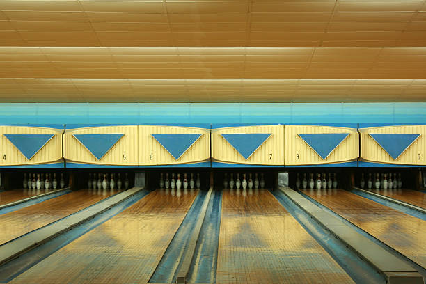 Old bowling stock photo