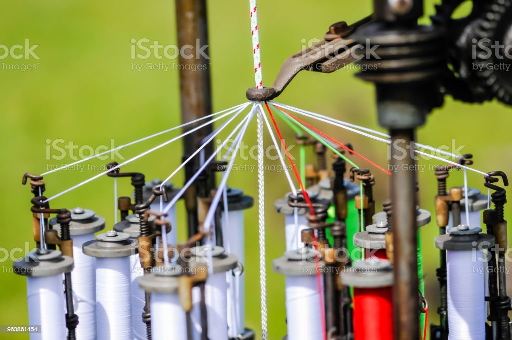 Old braiding machine from a ropework factory. - Royalty-free Braided Stock Photo