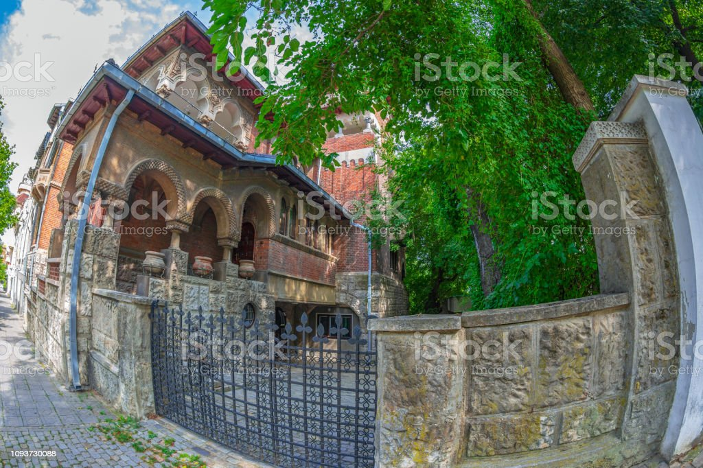 Old Brancovean house, Bucharest, Romania stock photo