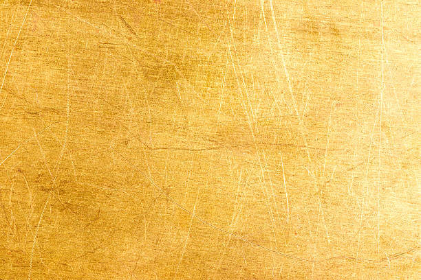Old brass plate texture stock photo