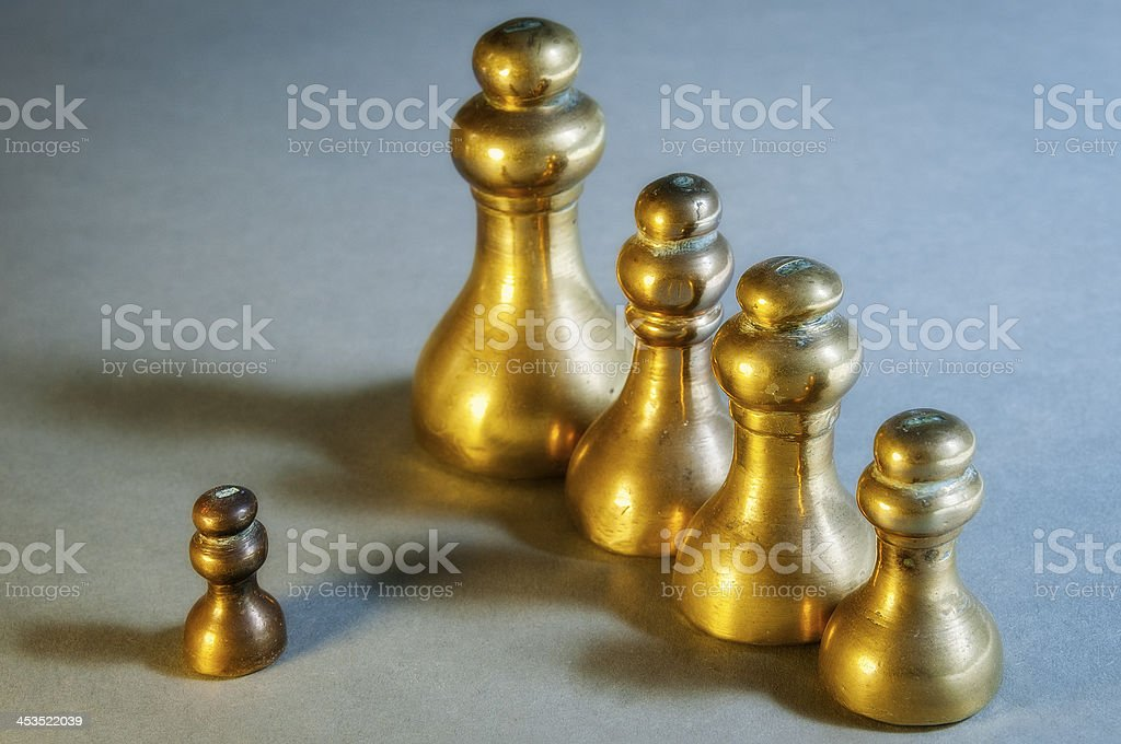 Old Brass Weights royalty-free stock photo