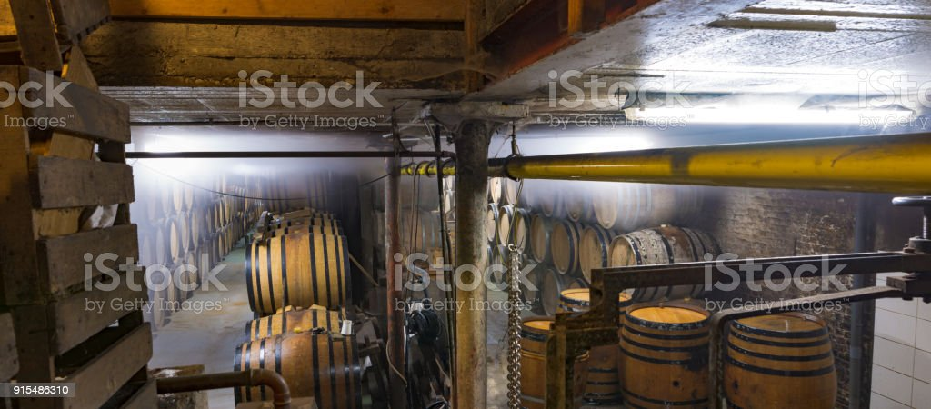 Old brewery in Brussels, Belgium stock photo