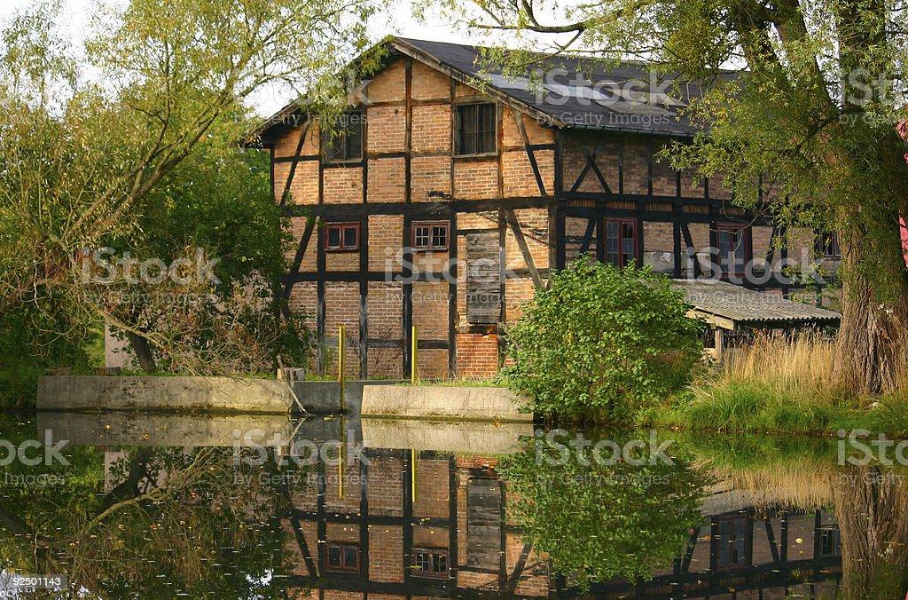 old brick building - horizontal royalty-free stock photo