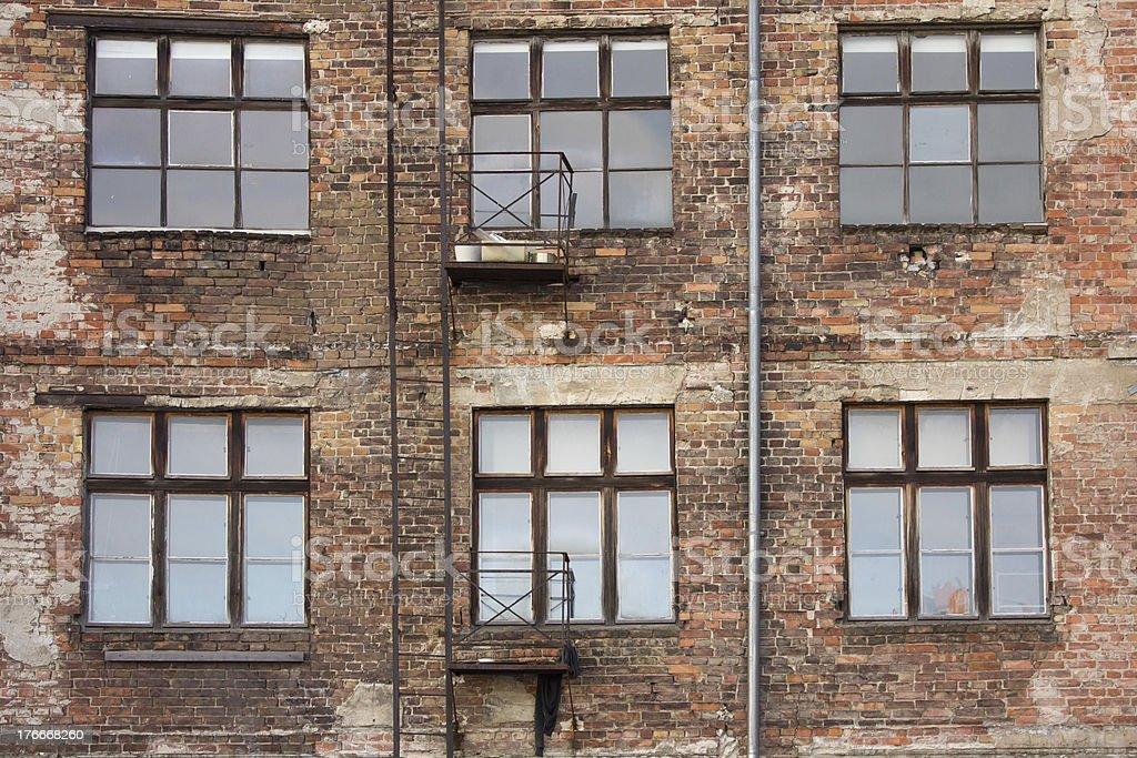 old brick facade royalty-free stock photo
