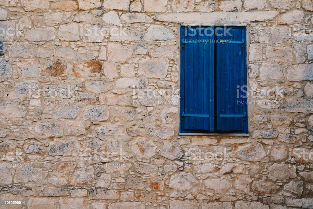 Old Brick Facade With Window stock photo