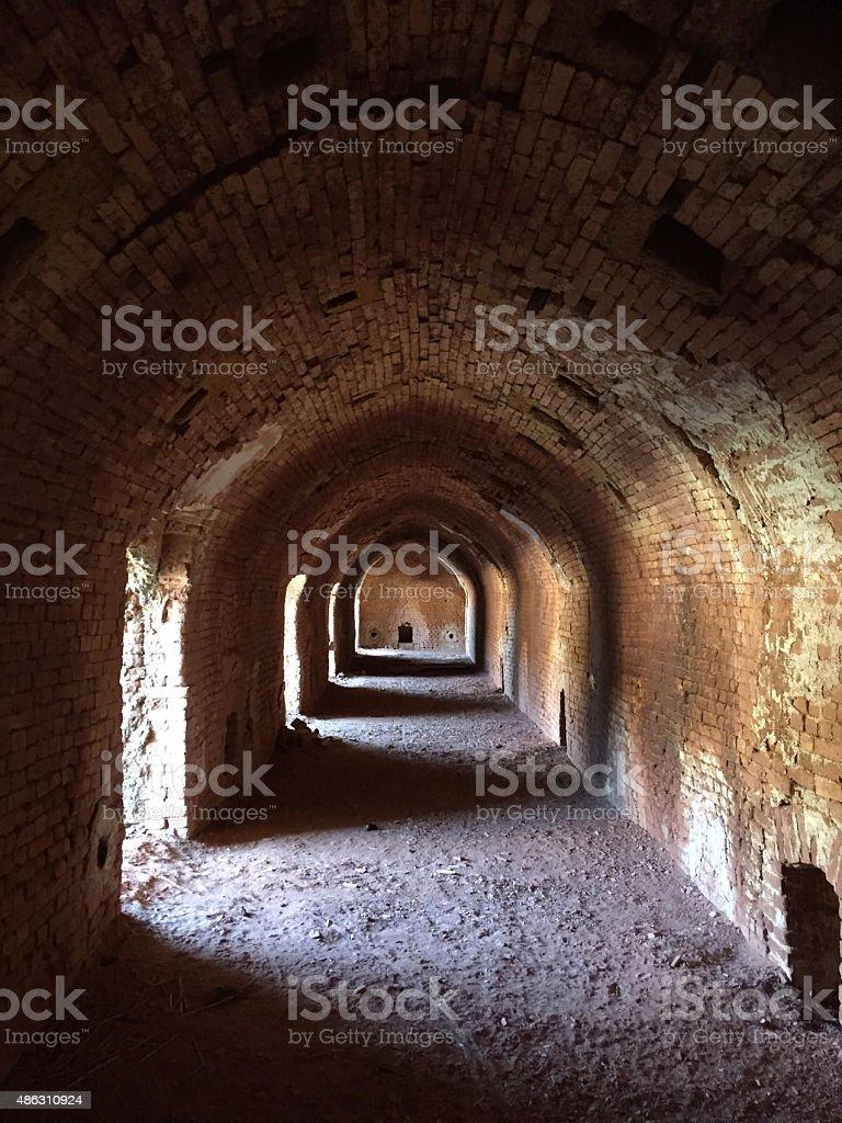 Old brick factory stock photo
