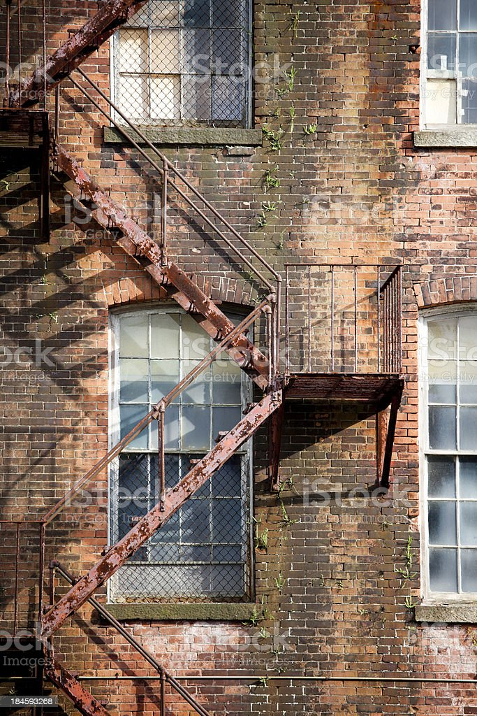 Old brick industrial building, Providence Rhode Island stock photo