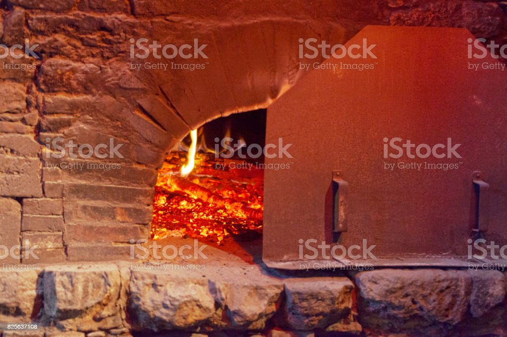 Old brick oven stock photo
