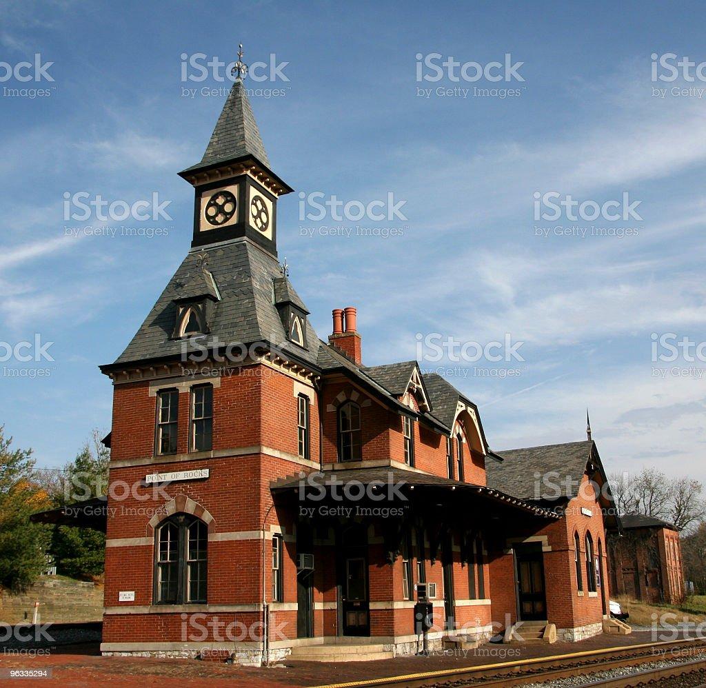 Old Brick Railroad Station royalty-free stock photo