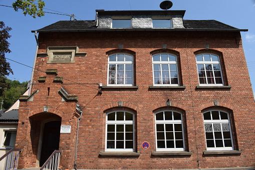 old brick school building in Germany