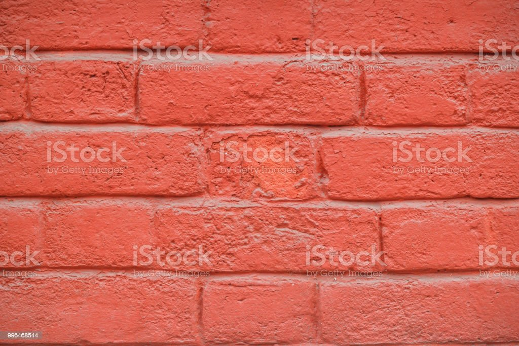 Old Brick Wall Background Painted Red Paint Texture Stock Photo Download Image Now