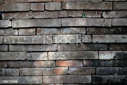 611897876 istock photo Old brick wall background with light 1084775336