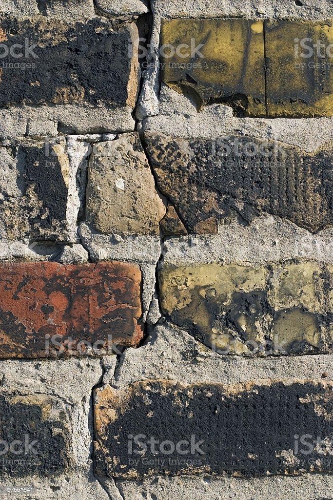 Gros plan de vieux mur de briques photo libre de droits