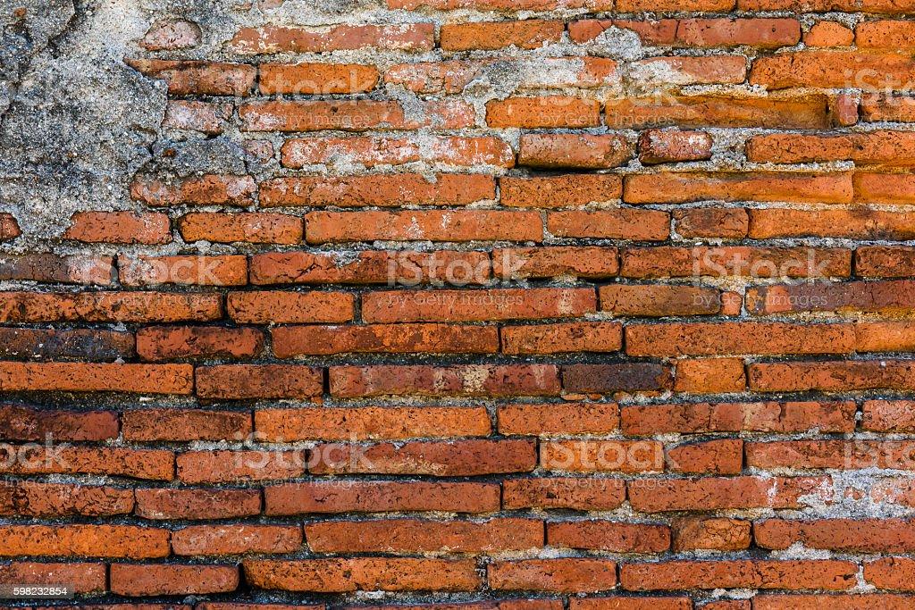 Velha parede de tijolos em um fundo  foto royalty-free