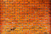 This is an old brick wall. Many years old This picture was taken in Thailand.
