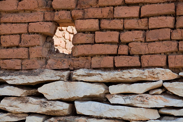 old brick wall - violetastoimenova stock photos and pictures