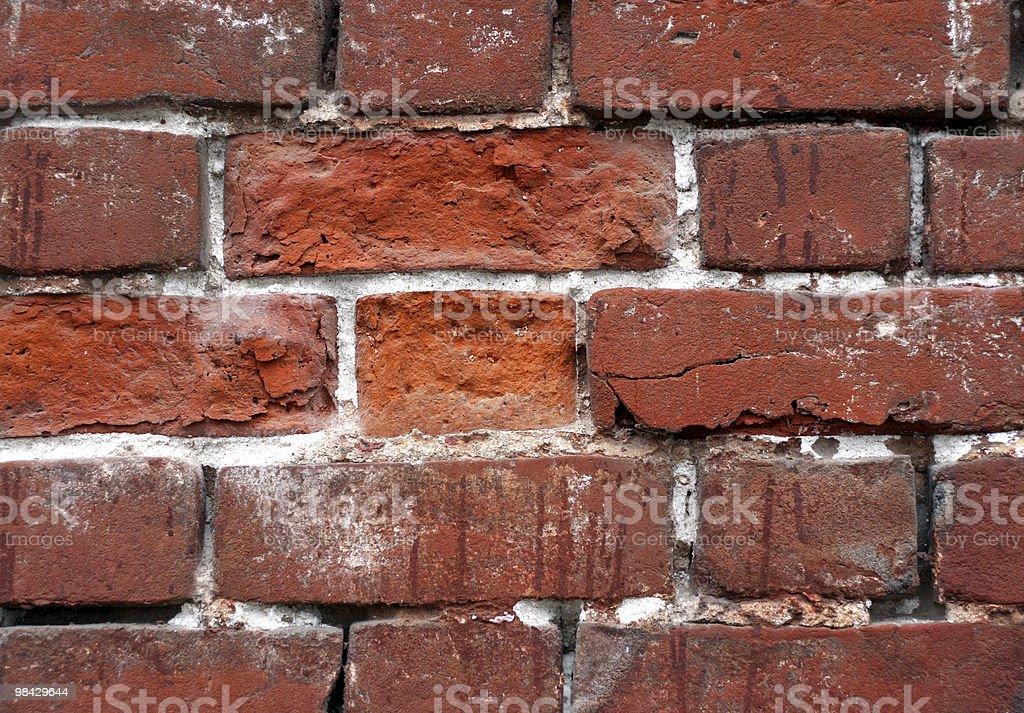 Vecchio muro di mattoni foto stock royalty-free
