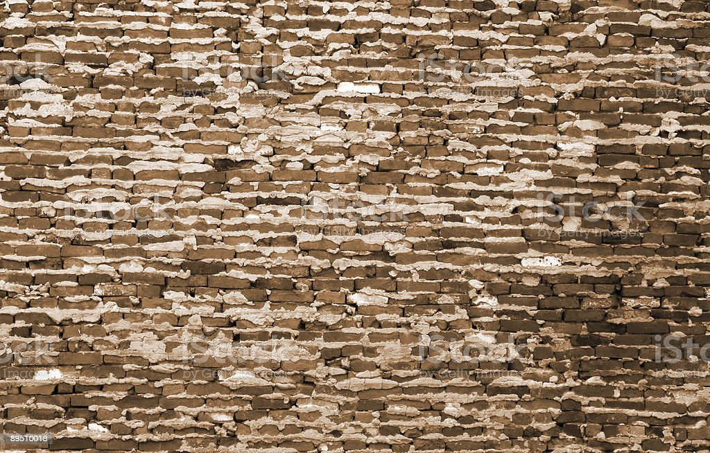 Old Brick Wall Sepia Background texture wallpaper royalty-free stock photo