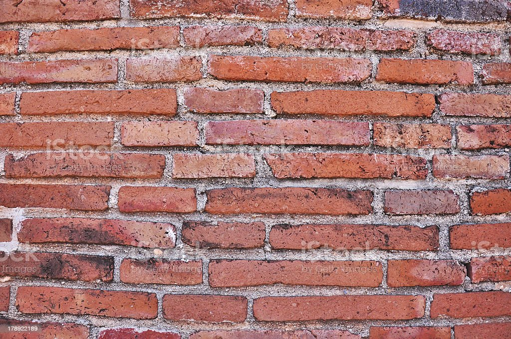 old brick wall texture at Thailand royalty-free stock photo