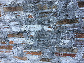 Old brick wall texture with copy space for background. Wallpaper for work and design.