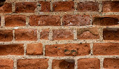 Old brick wall, weathered, painted, background