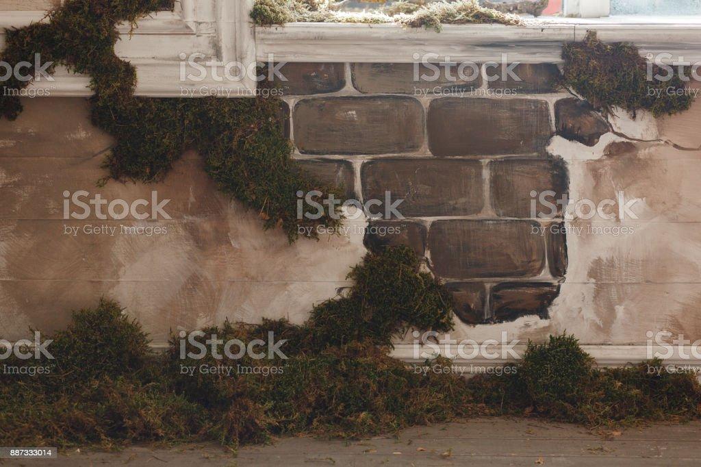 Alte Mauer Mit Moos Indoor Loft Interieur Stock-Fotografie und mehr ...