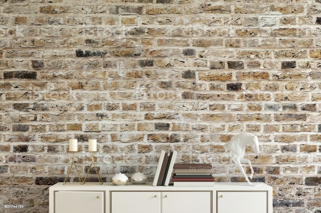 Old Brick Wall With Shelf Template Royalty Free Stock Photo