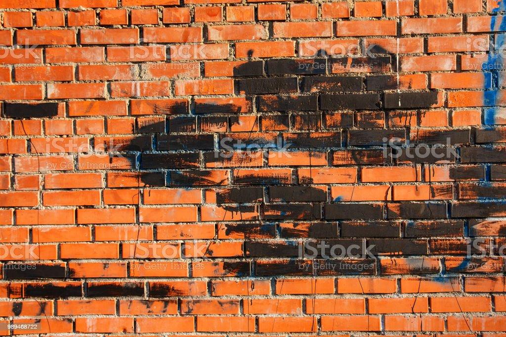 Photo Libre De Droit De Vieux Mur De Briques Avec Des Taches