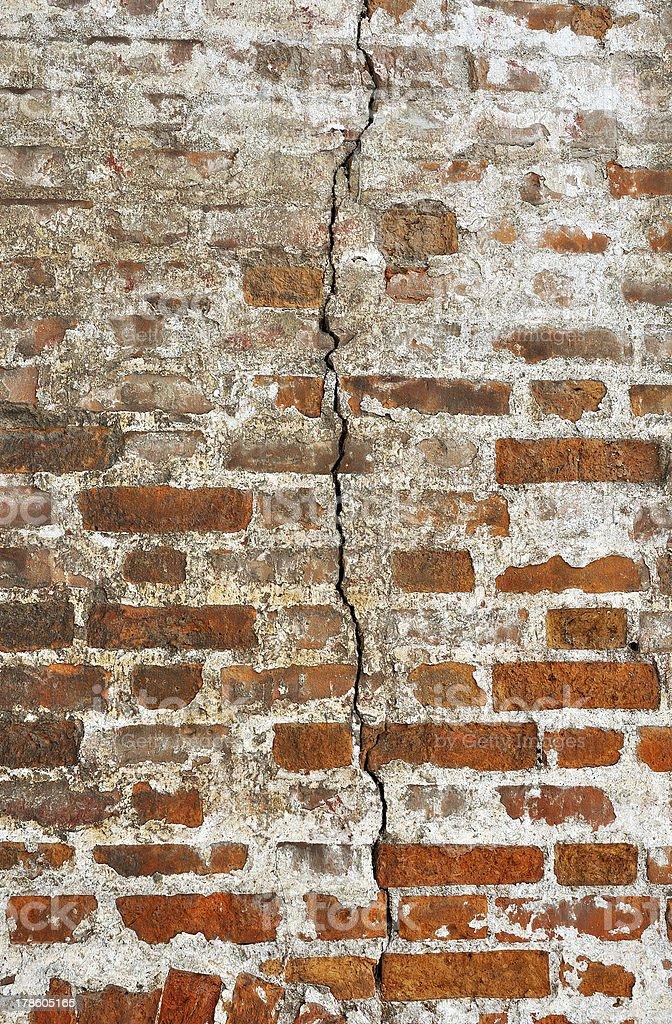 Old brickwork wall royalty-free stock photo