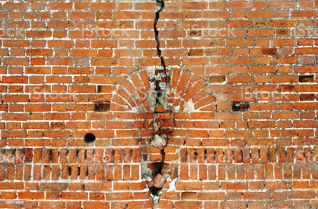 Old brickwork wall royalty-free stock photo