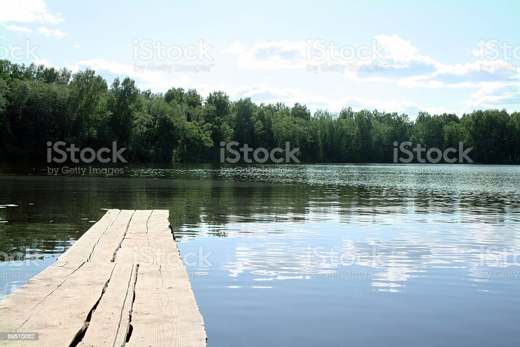 old bridge above lake royalty-free stock photo