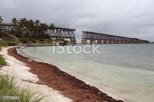 old bridge at Florida Keys in the United States