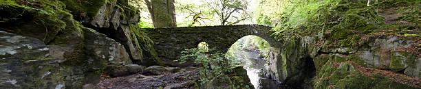 Old Bridge at the Hermitage, Dunkeld. stock photo