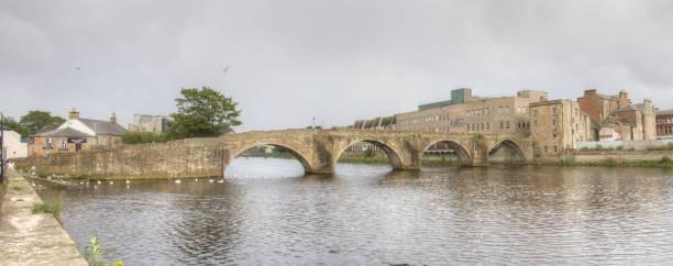 Old Bridge, Ayr stock photo