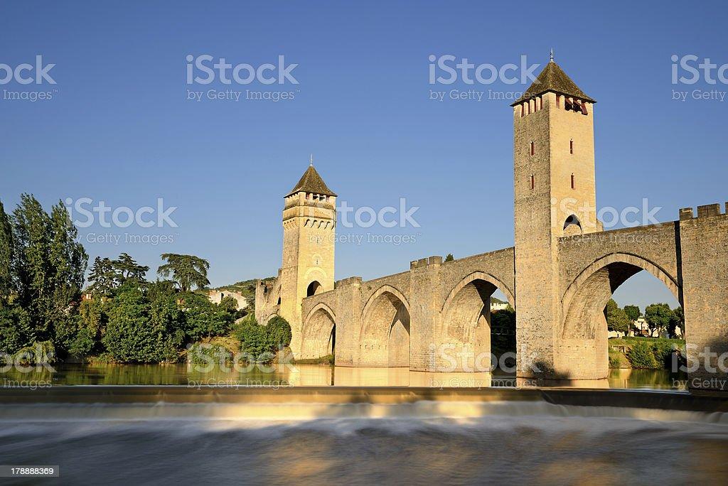 old bridge cahors stock photo