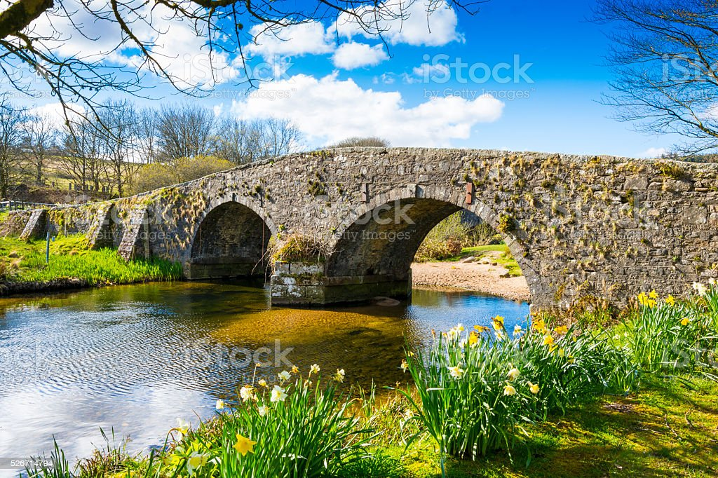 Old Bridge - Dartmoor stock photo