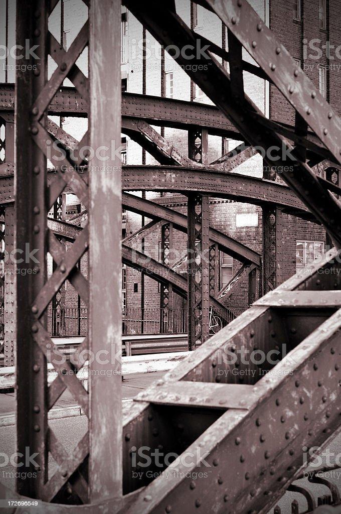 old bridge detail royalty-free stock photo