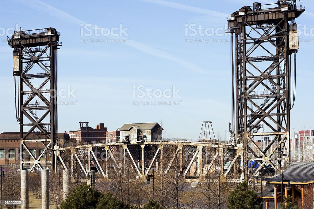 Old Bridge in Chicago royalty-free stock photo