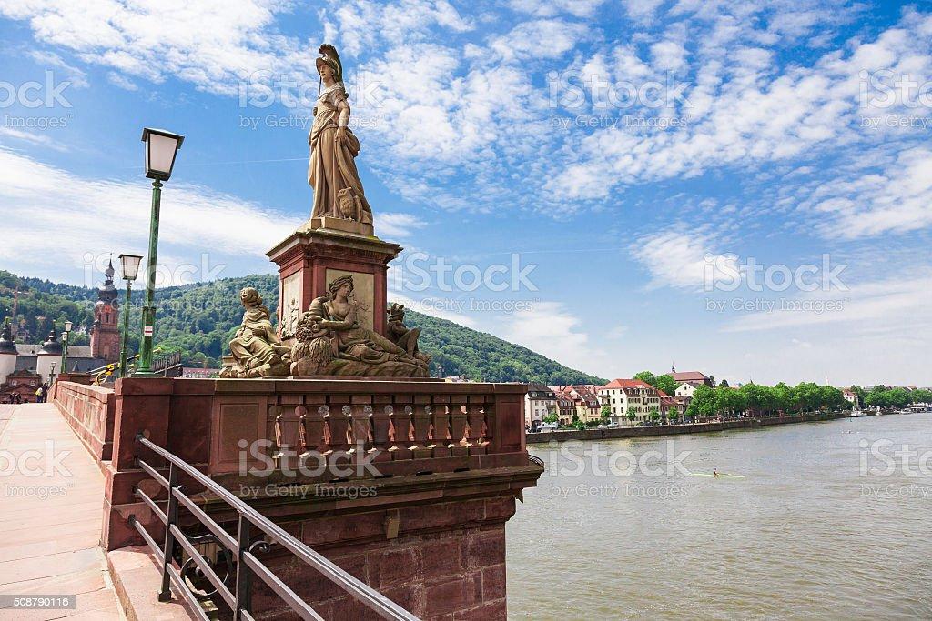 Old bridge in Heidelberg in Germany stock photo