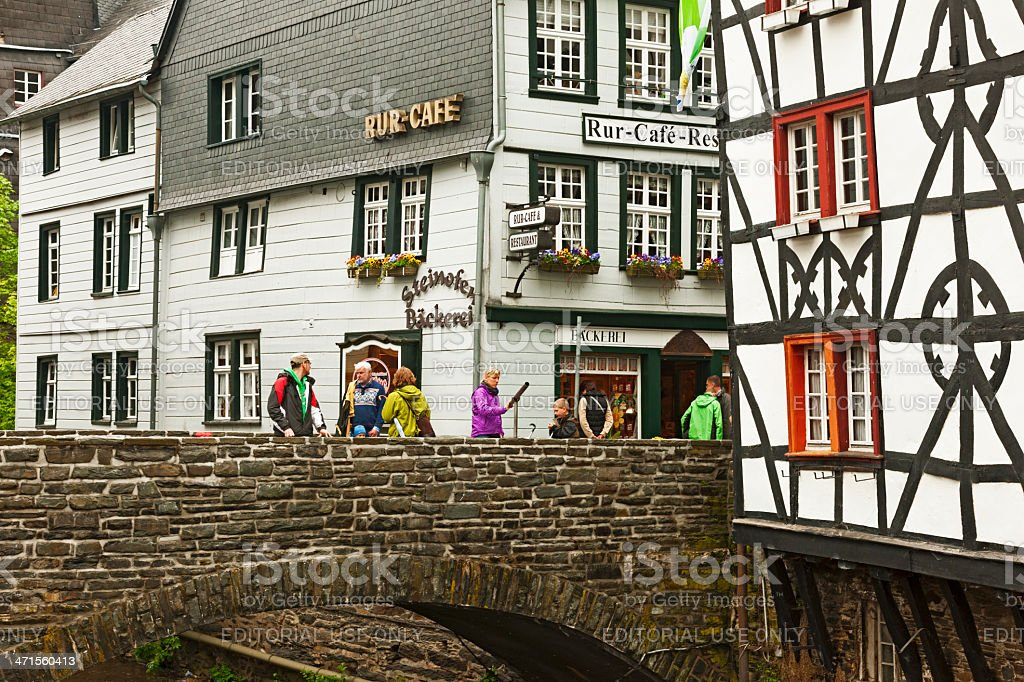 Old bridge in Monschau royalty-free stock photo
