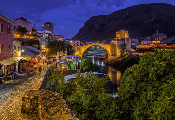 Old Bridge in Mostar - Bosnia and Herzegovina stock photo
