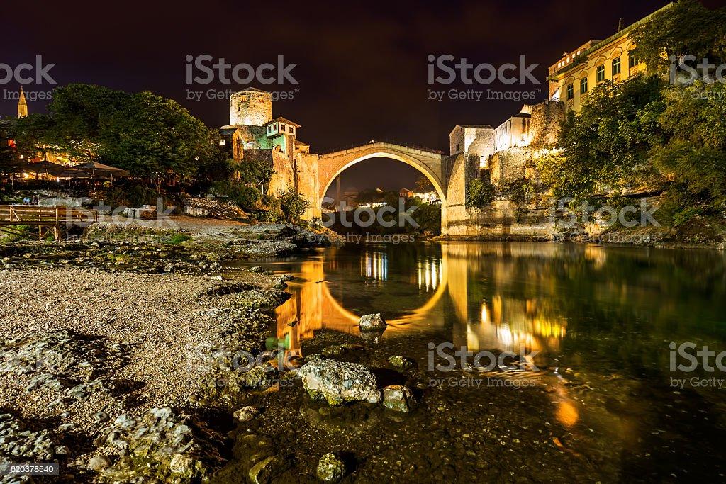 Stary Most w Mostar-Bośnia i Hercegowina zbiór zdjęć royalty-free