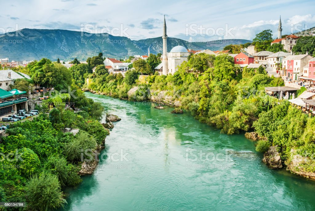Old Bridge in Mostar, Bosnia and Herzegovina stock photo
