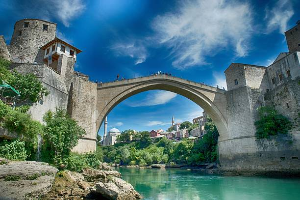 old bridge in Mostar - protected by UNESCO – Foto