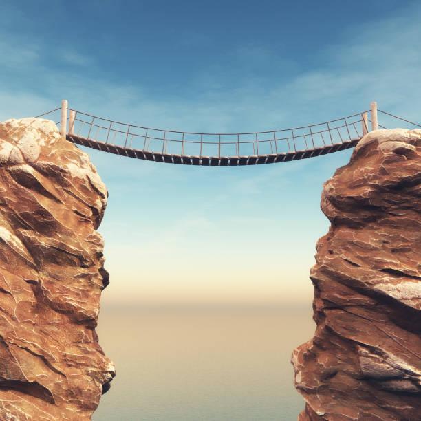 i̇ki büyük kayalar arasında eski köprüden - bridge stok fotoğraflar ve resimler