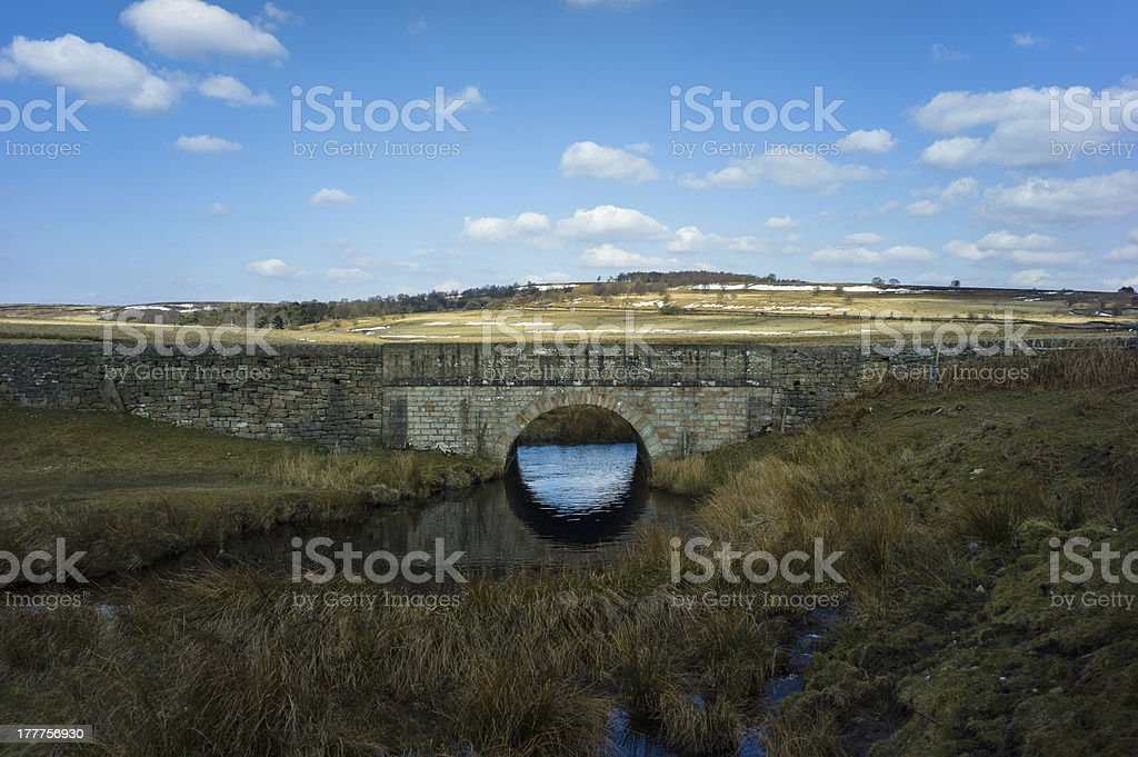 Old bridge over canal royalty-free stock photo
